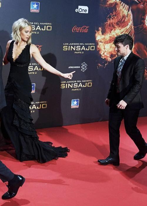 Hunger Games: Mockingjay - Part II premiere - Jennifer Lawrence and Josh Hutcherson