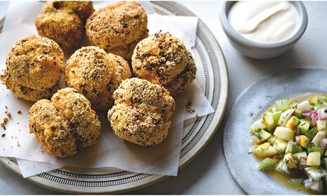 Simon Rogan's stuffed mushrooms with dill salad recipe. Food styling: Claire Ptak. Photograph: Colin Campbell for the Guardian