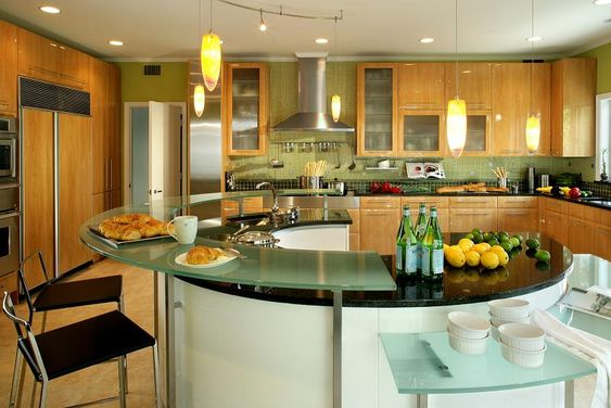 Kitchen, Charming Open Kitchen Design Inspiring Creativity: Modern European Open Kitchen Designs