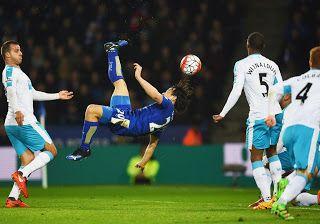 Blog Esportivo do Suíço:  Com pintura de japonês, Leicester frustra estreia de Benítez e abre vantagem na ponta