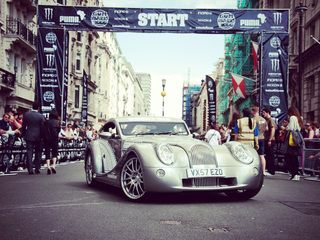 The Morgan Car that Rapper Eve started Gumball 3000 in  LDN 2 NYC