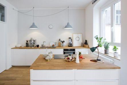 Hausbesuch | Helle Wohnküche im Loft | hej.de
