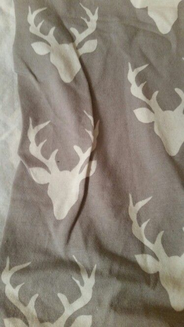 Grey stag cotton jersey 75cm x 0.6m