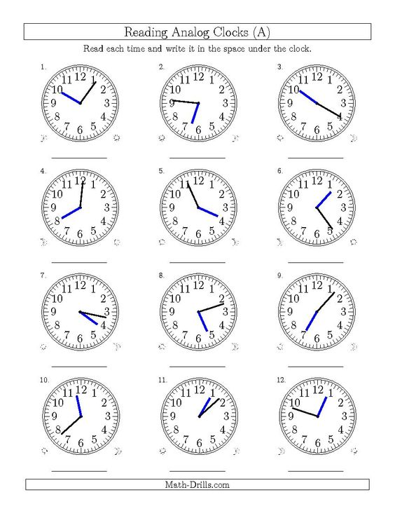 Time Worksheets » Time Worksheets One Minute Intervals - Preschool ...