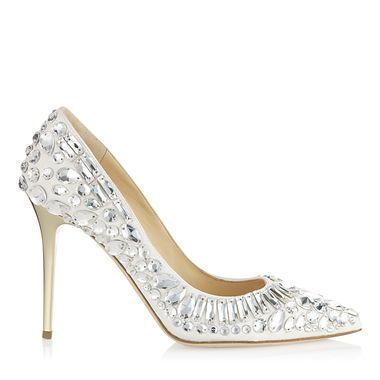 These are exactly the shoes I need for NYE but of course they're $3,250.  *Jimmy Choo* *Not Happening*  Chalk Nappa Pointy Toe Pumps with Crystals