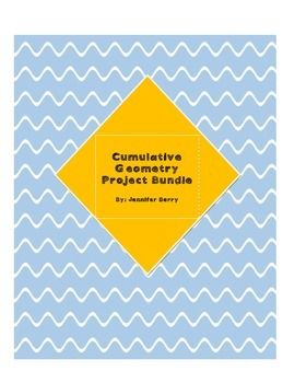This is a large project bundle that focuses on geometry concepts learned in 6th grade in particular, but also adaptable to fifth and seventh grades as well or even a higher level class.  The bundle addresses an entire geometry unit covering some of the sixth grade common core geometry standards as well as some previous standards in geometry learned in 4th and 5th grades: vocabulary includes  rays, lines, angles, perpendicular, parallel, acute, obtuse, straight angles.