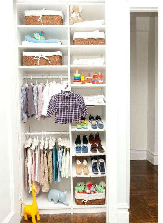 Small Nursery Closet Ideas How To Maximize Space And Store More In 2020 Toddler Closet Organization Small Bedroom Closet Storage Ideas Toddler Closet