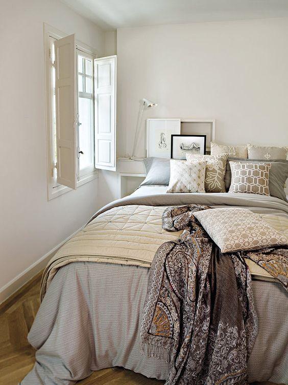 Dormitorios en gris blanco y negro con diferentes - Decorar dormitorio blanco ...