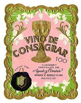 POSTER A3 Wine label, Agudo y Cisneros (Mexico), Vino de Consagrar