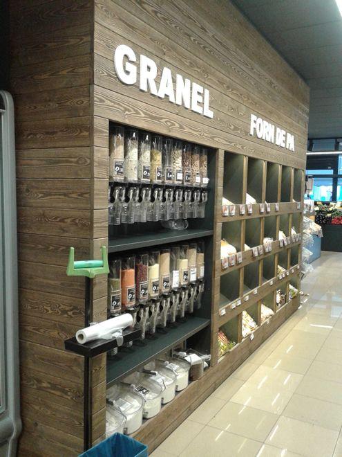 Dispensadores De Venta A Granel Gravity Bins Modelo 0001 Diseño De Supermercado Mostradores Tiendas Diseño De Fachada De Tienda
