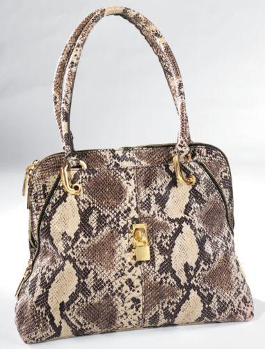 Snakeskin Padlock Bag from Monroe and Main
