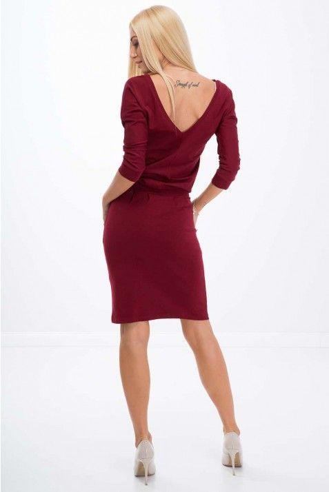 Bordowa Sukienka Wiazana W Talii 9729 9729 Claret 00 Dresses Fashion Mini Dress