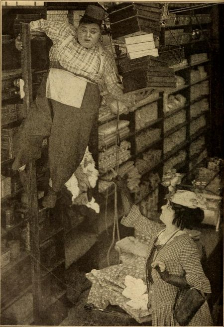 Scene from 'The Butcher Boy' starring Fatty Arbuckle