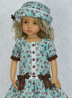 "~~Brown Teal~~For Dianna Effner 13"" Little Darling Studio Dolls By Melanie:"