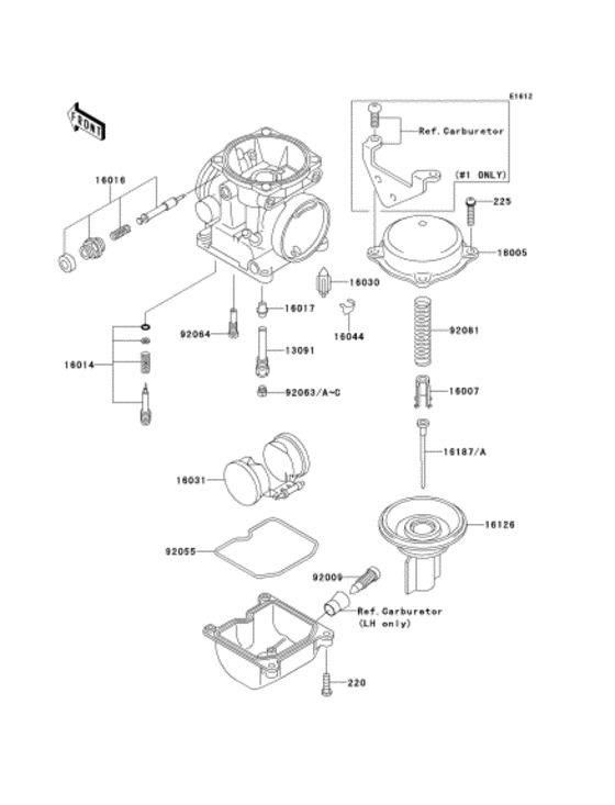 Kawasaki Ej400 W400 Carburetor Valve Vacuum Diaphragm 16126 1198 16126 1200 Ej400 Carburetor Kawasaki Valve