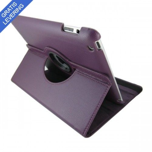 iPad cover med 360 graders roterende case - Lilla