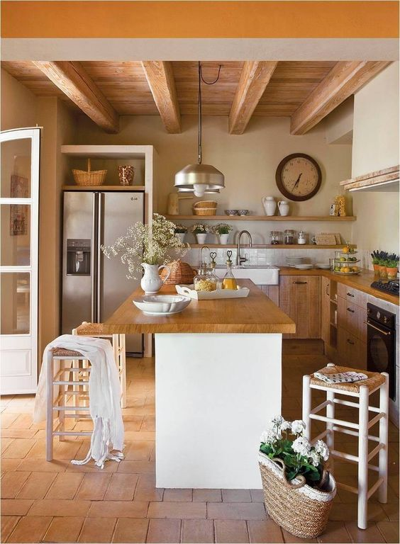 Cucina country colori naturali | Decoracion cocinas modernas ...