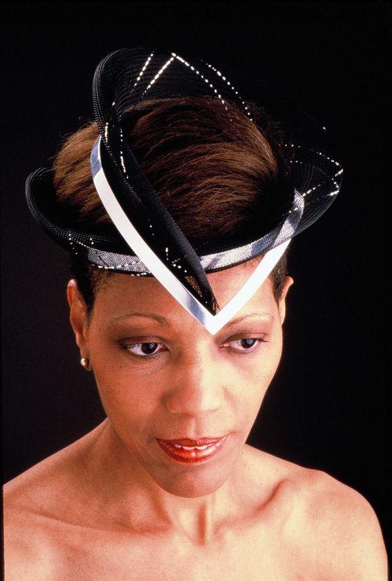 Aluminum and horsehair veiling headdress
