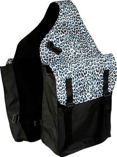 Leopard Print Med Saddle Bag Color: Teal/Blk by Lami-Cell. $14.99. 600 Denier. Straps for Attachment. Buckle Closure. 2 Plastic Clips. 600D polyester,PVC coated plastic buckle closure, 2 plastic clips & straps for attachments