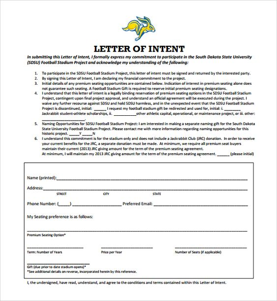 17 best Letter of Intent Template images on Pinterest A letter - commitment letter