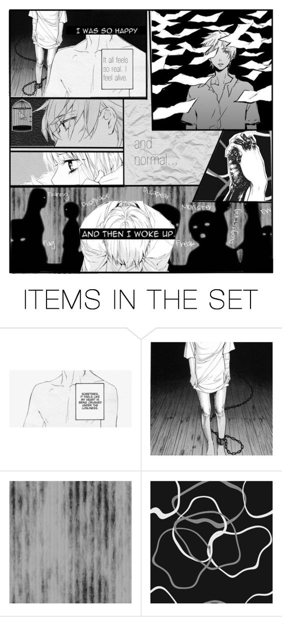 """""""If dreams do come true, i'd like to wake from this nightmare."""" by soranobaka ❤ liked on Polyvore featuring art"""