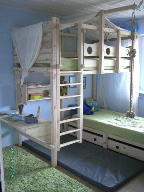Abenteuerbett selber bauen  Hochbett Kinderbett Etagenbett Babybett Abenteuerbett Hochbetten ...