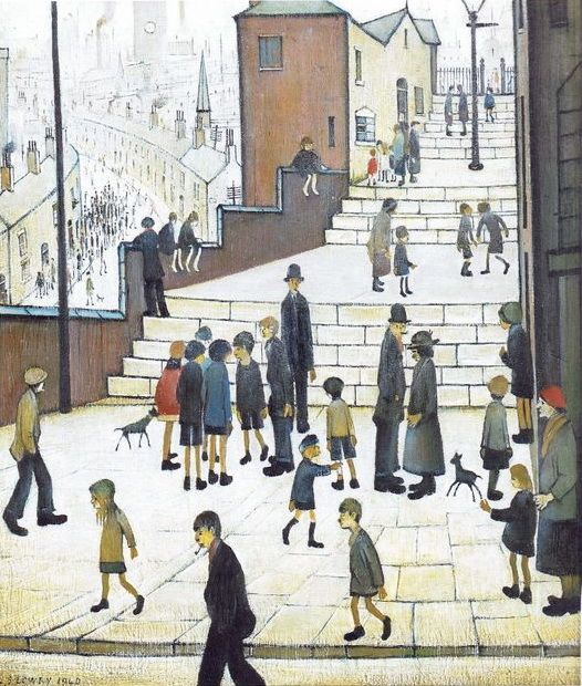 A1 A2 LS Lowry A3 The steps at Wick Repro Canvas Box Art// Photo Print  A4