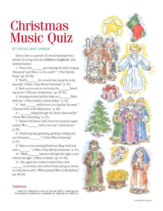 "Christmas LDS Music Quiz from ""The Friend"" | Christmas inspiration | Pinterest | Christ ..."