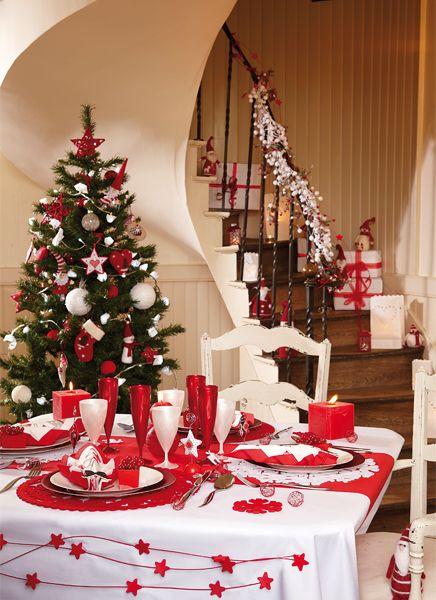 Decorazioni Natalizie Tavola.Decorazioni Tavola Di Natale In Rosso E Bianco 20 Idee Decorazioni Da Tavola Decorazione Festa La Tavola Di Natale