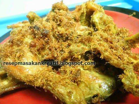 Resep Ayam Goreng Kuning Serundeng Lengkuas Resep Ayam Resep Masakan Resep Masakan Indonesia