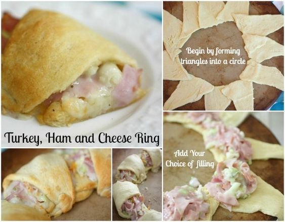 Turkey, Ham and Cheese Ring | Ham And Cheese, Hams and Crescents