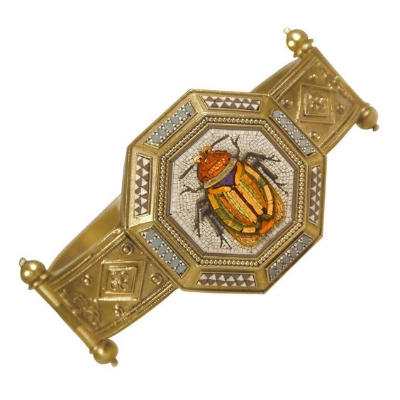 1stdibs.com | Antique Micro Mosaic Bracelet