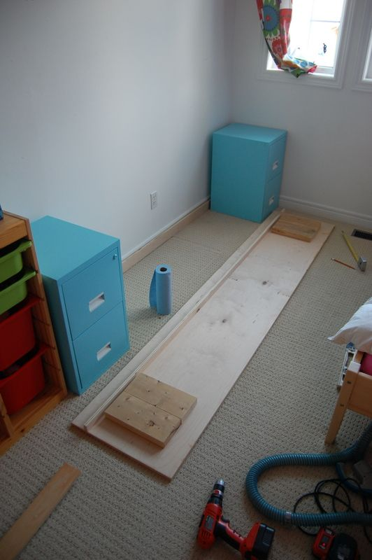 DIY Desk Made From Spray Painted Filing Cabinets With A Stained Wood Top |  Home | Pinterest | Painted Filing Cabinets, Spray Painting And Sprays