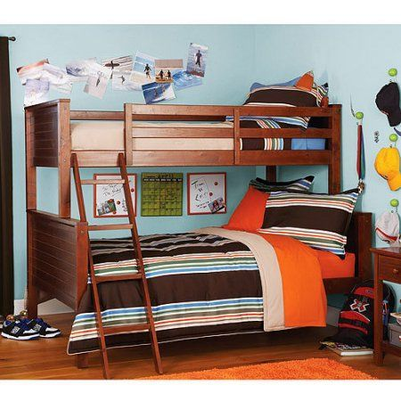 Your Zone Twin Over Full Bunk Bed Walnut New House 2016