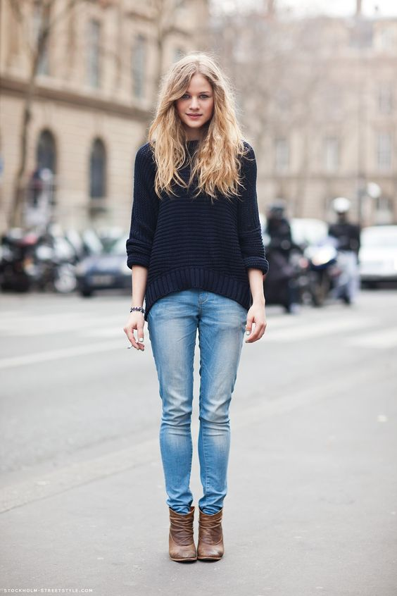 _streetstyle. Sweaters And JeansSweater