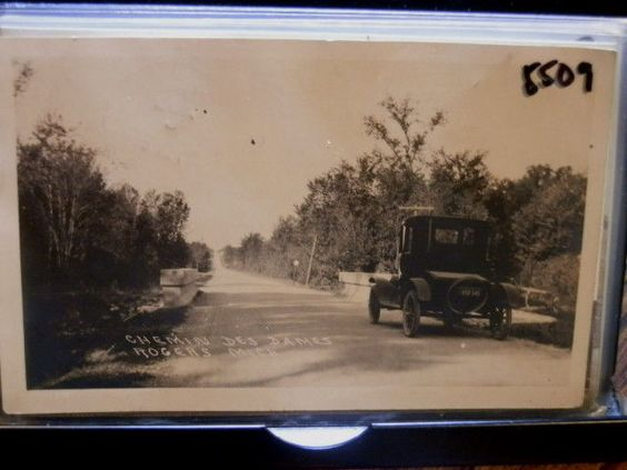 #5509, Real Photo, Rogers City Michigan Vintage Auto,Chemin des Dames 1924