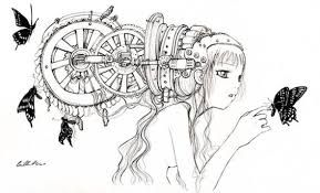 Resultado de imagem para steampunk animals colloring pages