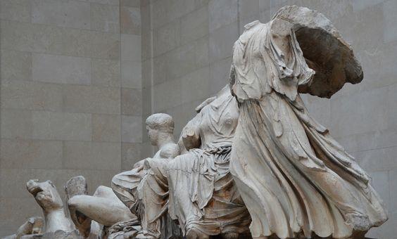 The Parthenon Sculptures An Oblique View Of The Sculptures From The East Pediment Acropolis Athens 438 432 Bc British Museum Greek Art Ancient Greek Art British Museum