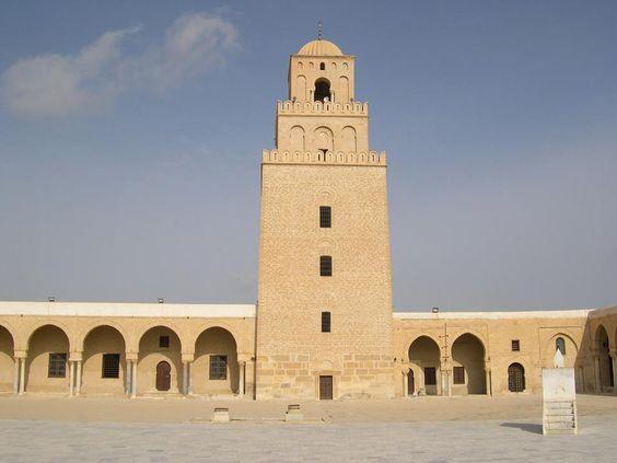 Mosquée de Kairouan, minaret 836 Kairouan Tunesië