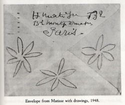 [Francoise Gilot's letters from Matisse as seen in Matisse and Picasso: A Friendship in Art.]