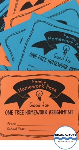 FREE! Give out Family Homework Passes to parents at Open House or at the start of the school year. Then, families can use them when home-life gets in the way of homework. Read all about it and download the passes for FREE!