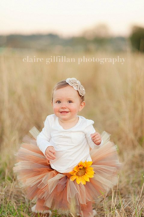 Pumpkin Spice Tutu - Perfect for fall photos and made in any size Newborn - 5T. $30.00, via Etsy.