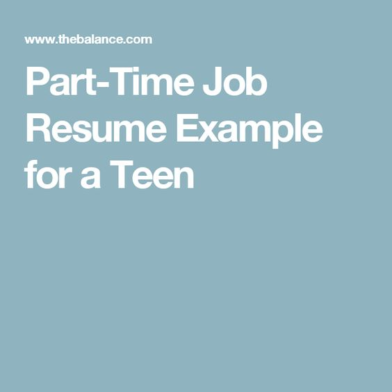 Learn How To Talk Yourself Into A Better Job Search State Of Mind - part time job resume