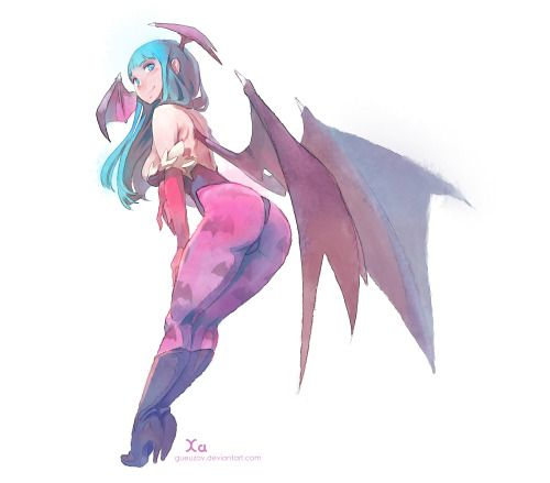 Morrigan for fun Made with paint tool saï
