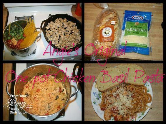 Angie's Chicken Basil Pasta, yummy :D