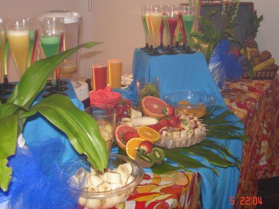 Cumpleaños muy especiales: Barra de Licuados – Un cumpleaños con mucho color ...