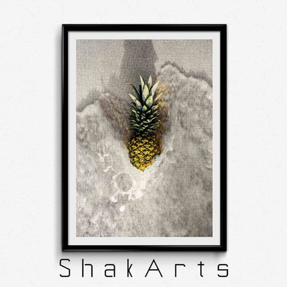 Pineapple Prints Pineapple Decals Pineapple Wall Print by ShakArts