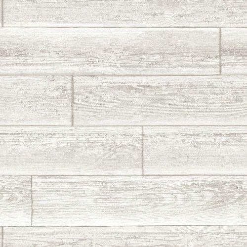 Nuwallpaper 30 75 Sq Ft Cream Vinyl Scenic Self Adhesive Peel And Stick Wallpaper Lowes Com Nuwallpaper Wood Wallpaper Adhesive Wood Paneling