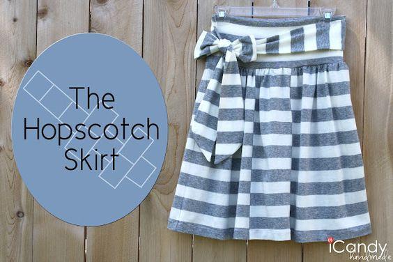 hopscotch skirt tutorial