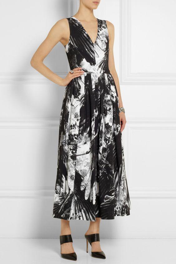 Preen by Thornton Bregazzi Vertigo printed stretch-crepe midi dress NET-A-PORTER.COM